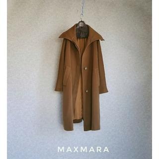 Max Mara - 超高級 マックスマーラ 一級品イタリア製ロングコート 豪華肉厚生地 最高級白タグ