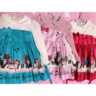 Shirley Temple - 90 子猫の音楽会 ワンピース 3着セット 色違い