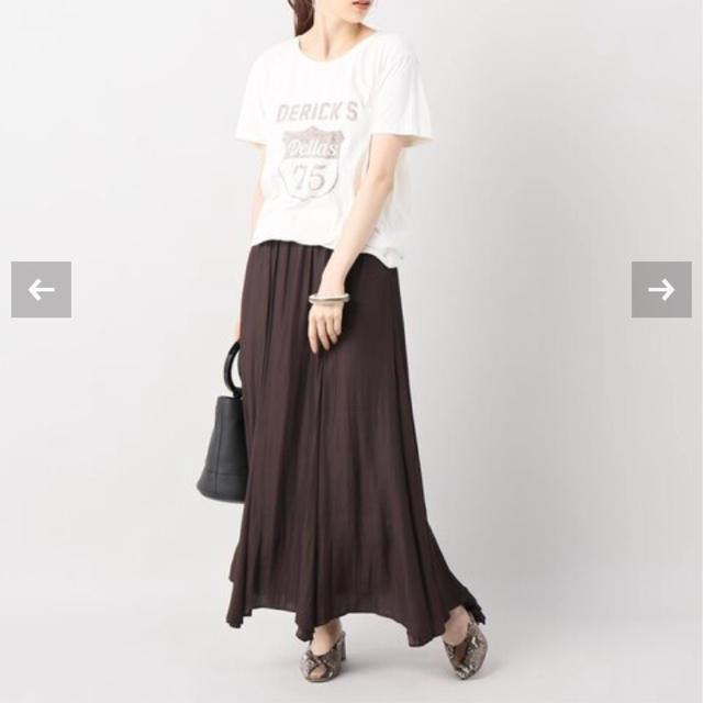 Plage(プラージュ)のプラージュplage  Twillギャザーロングスカート ブラウン38 レディースのスカート(ロングスカート)の商品写真