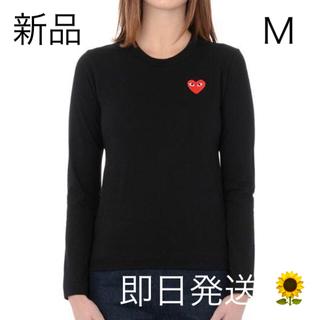 COMME des GARCONS - 即日発送!Mサイズ プレイコムデギャルソン レディース 長袖 Tシャツ ブラック
