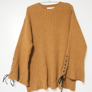 moussy - HL LACE UP SLEEVE SWEATER