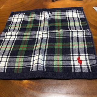 ラルフローレン(Ralph Lauren)のラルフローレンハンカチタオル.紺色チェック赤ロゴホースマーク(その他)