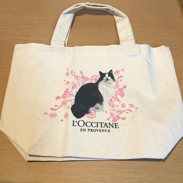 L'OCCITANE(ロクシタン)のロクシタン 限定トートバッグ ネコちゃん コスメ/美容のコスメ/美容 その他(その他)の商品写真
