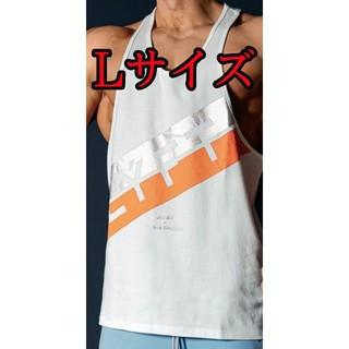【新品】Lサイズ Stripe Training Tanktop White(Tシャツ/カットソー(半袖/袖なし))