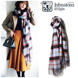 Johnstons - 雑誌掲載 正規代理店タグ付き ジョンストンズ ストール 新品 日本別注カラー