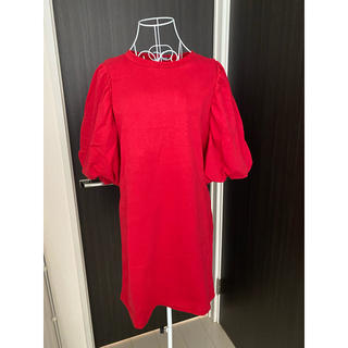 ZARA - ZARA ワンピース 赤 バルーン ロングTシャツ