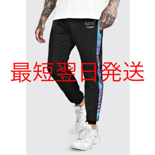 adidas - 【新作】boohoo ジョガーパンツ 反射 レインボー ブラック 新品未使用