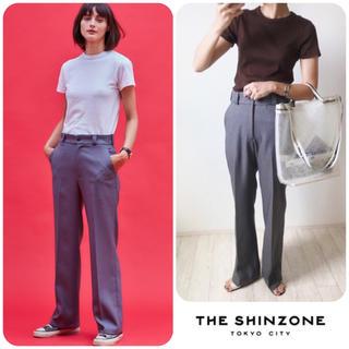 シンゾーン(Shinzone)の美品☺︎THE SHINZONE センタープレスパンツ 36 グレー(カジュアルパンツ)