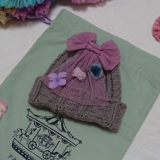 フェフェ(fafa)のmiiina様 専用★panpantutu お花のニット帽(帽子)