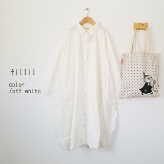 merlot - 最新作*フィリル ふんわり裾ナチュラルワンピース オフホワイト