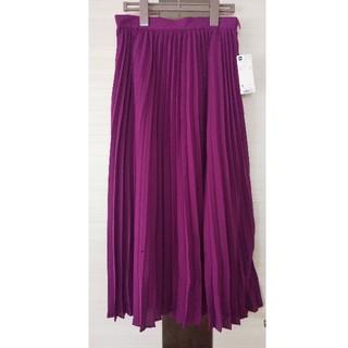 GU - Mサイズ プリーツミディスカート ロングスカート セミロングスカート