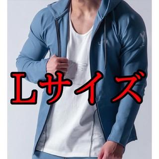 【新品】Lサイズ 2way Workout Zip up Wear L.Blue(パーカー)