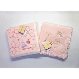 JILLSTUART - 送料無料■ジルスチュアート■桜×コスメ柄 タオルハンカチ■2枚セット
