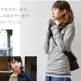 SHIPS - ロンTシャツ ロング丈 カットソー トップス フェイクレイヤード 即日発送