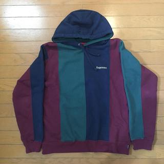 Supreme - 18FW Supreme Tricolor Hooded Sweatshirt