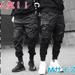 韓国 ブラック カーゴパンツ ジョガーパンツ タクティカルパンツ M