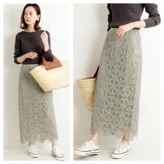 IENA - 【新品タグ付】IENA レースタイトスカートグリーン サイズ36