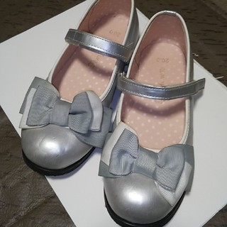 pom ponette - Pom Ponetteシルバーのリボン靴