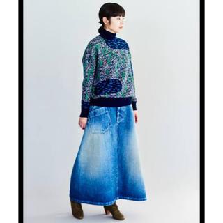 mina perhonen - ミナペルホネン  デニム ロング スカート 40