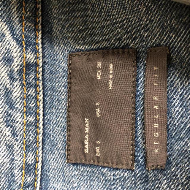 ZARA(ザラ)のZARAダメージデニムジャケット メンズのジャケット/アウター(Gジャン/デニムジャケット)の商品写真