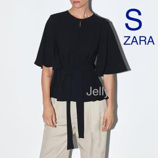 ZARA - 【タグ付き新品】ザラ リボン付き ブラウス