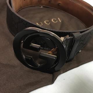 Gucci - gucci ベルト black (ブラック)