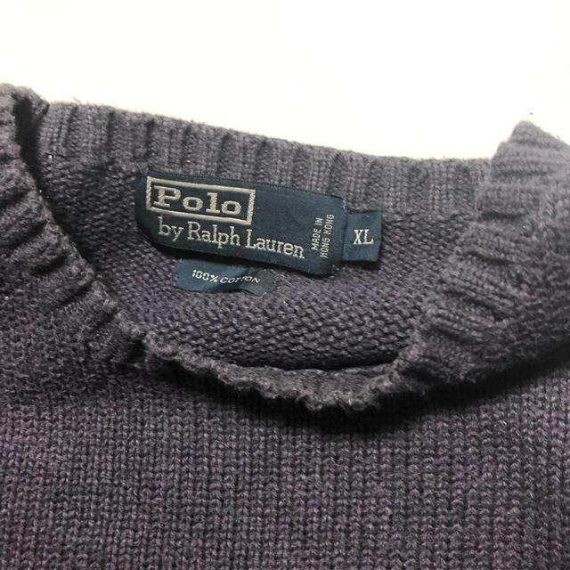 POLO RALPH LAUREN(ポロラルフローレン)のポロラルフローレンニット パープル XL レディースのトップス(ニット/セーター)の商品写真