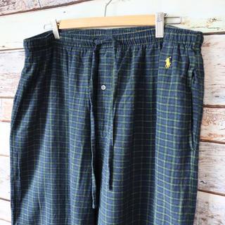 ポロラルフローレン(POLO RALPH LAUREN)のラルフローレン ポロ 青×緑 イージーパンツ パジャマパンツ L(その他)