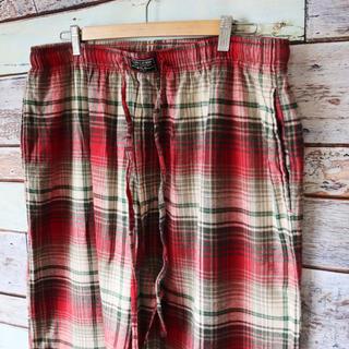 ポロラルフローレン(POLO RALPH LAUREN)のラルフローレン ポロ 白×赤 イージーパンツ パジャマパンツ XL(その他)