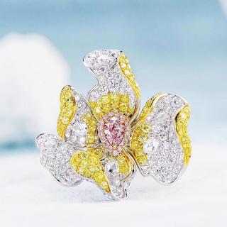 GIA♡0.31ct♡高級FLPPピンクダイヤモンド豪華指輪(リング(指輪))