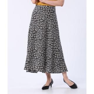 PLST - PLST フラワープリントナロースカート ブラック L 新品タグ付