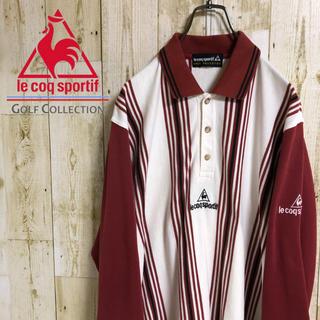 ルコックスポルティフ(le coq sportif)のルコックスポルティフ ゴルフコレクション サンプル品 刺繍ロゴ 長袖 ポロシャツ(ポロシャツ)
