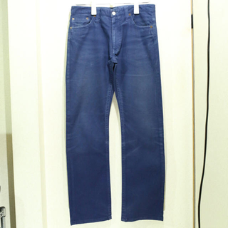 シップス(SHIPS)のSHIPS ストレッチ カラー パンツ 30インチ ブルー(デニム/ジーンズ)
