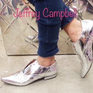 ジェフリーキャンベル(JEFFREY CAMPBELL)のJeffrey Campbell シルバードレスシューズ ジェフリーキャンベル(ローファー/革靴)