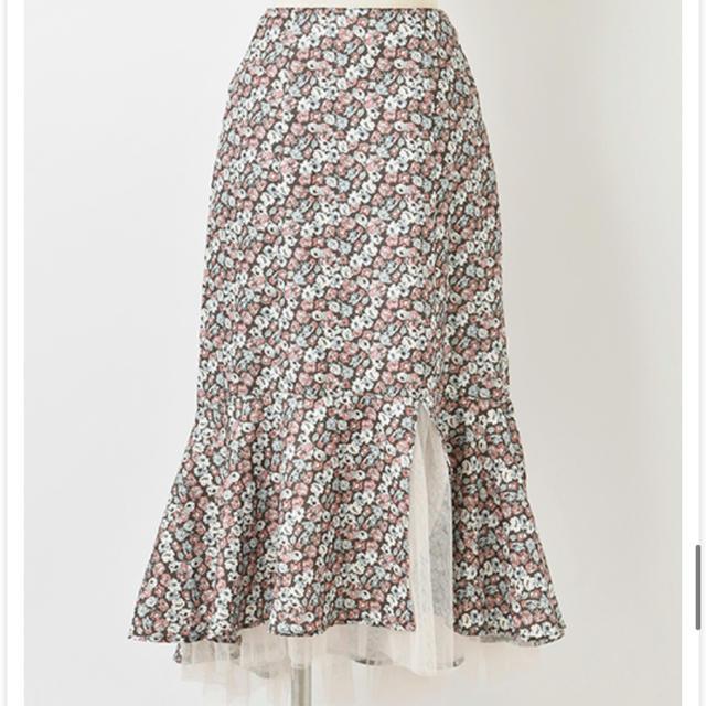 one after another NICE CLAUP(ワンアフターアナザーナイスクラップ)のワンアフターアナザーナイスクラップ 花柄スカート レディースのスカート(ロングスカート)の商品写真
