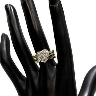 K18YG 3連ハートダイヤモンドリング◆ダイヤモンド0.60ct 11グラム(リング(指輪))