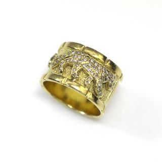 K18YG パンサーリング ダイヤモンド 0.52ctct 12号◆11.1g(リング(指輪))