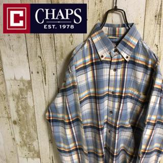 CHAPS - CHAPS チャップス ワンポイント 刺繍ロゴ マルチカラーチェック BDシャツ