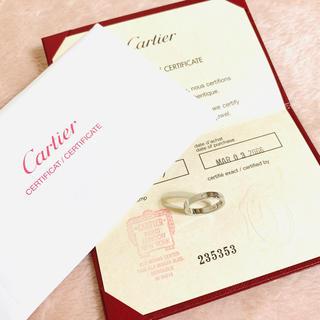 カルティエ(Cartier)のCartier カルティエ✨エングレープド pt950 リング 1Pダイヤ(リング(指輪))