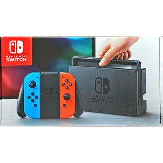 Nintendo Switch - 【美品・送料無料】NINTENDO SWITCH ネオンブルー/ネオンレッド
