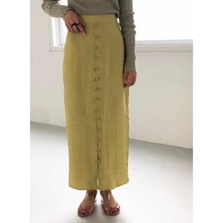 TODAYFUL - todayful フロントボタンサテンスカート 36