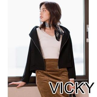 ビッキー(VICKY)の新品 ビッキー 抜け衿ジャージブルゾン ジャケット タグ付き(ブルゾン)