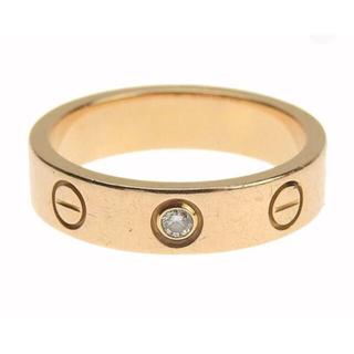 Cartier - カルティエ ラブ ミニ リング ダイアモンド 47 ピンクゴールド