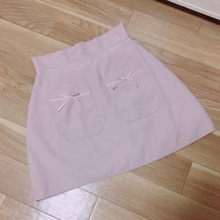エブリン(evelyn)のevelyn ポケット リボン スカート(ミニスカート)