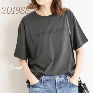 IENA - 【2019SS】ロゴプリントTシャツ◆ブラック A