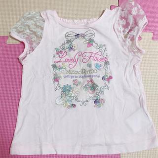 メゾピアノ(mezzo piano)のメゾピアノ   半袖Tシャツ ピンク(Tシャツ/カットソー)