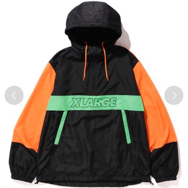 XLARGE(エクストララージ)の【虎太郎様】XLARGE オレンジかわいいシャカシャカジャケット メンズのジャケット/アウター(ナイロンジャケット)の商品写真
