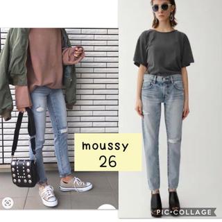 moussy - moussy クラッシュテーパード denim デニム 26 マウジー