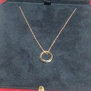Cartier - 新品同様 ピンクゴールド 正規品 New カルティエ トリニティ ネックレス