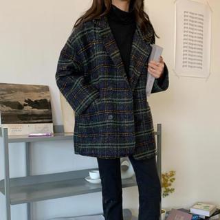 STYLENANDA - 韓国ファッション♡チェック柄ジャケット